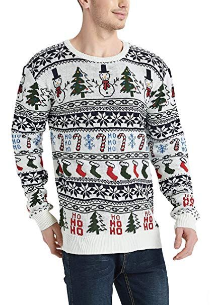 19e5765a50ac49 Daisyboutique Men s Christmas Rudolph Reindeer Holiday Sweater Cardigan  Cute Ugly Pullover (X Large