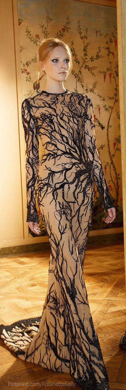 Zuhair Murad Haute Couture | F/W 2013 wondering if I could recreate this look on a t using paints or paint pens
