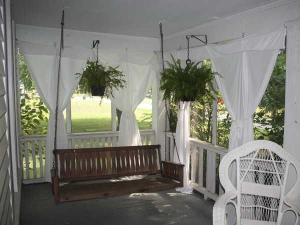 Outdoor curtains for porch and patio designs 22 summer for Outdoor porches and patios