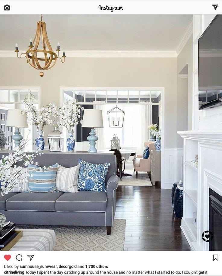 living room in blue%0A citrineliving Instagram April