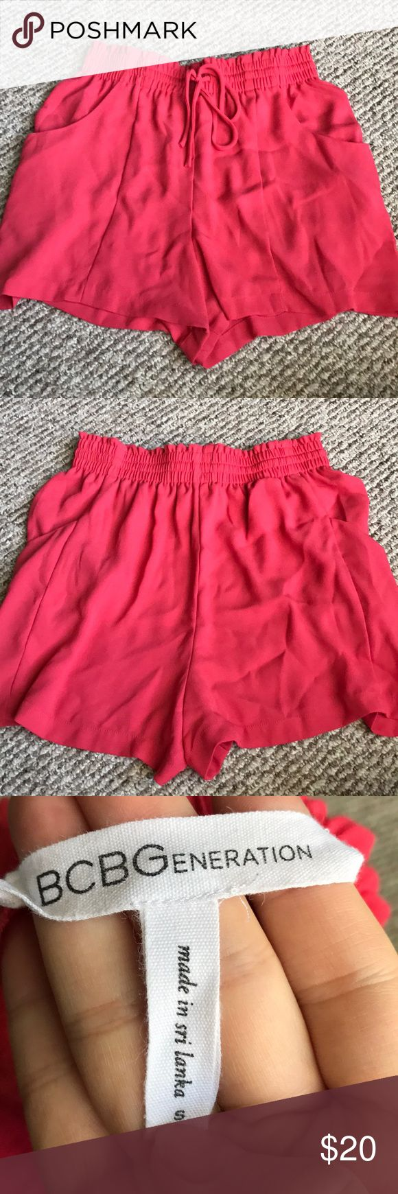 Crepe Shorts Worn twice. No flaws. Coral Color BCBGeneration Shorts