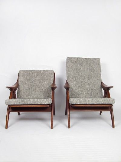 Mid Century Dutch Design Armchair From Gelderland De Ster. Made Of Teak And  With A