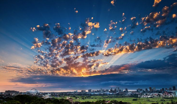 Sunrise over Durban See Where to Stay accommodation options in the DURBAN AREA Click on link for more info. http://www.wheretostay.co.za/kzn/dm/accommodation/durban-area.php