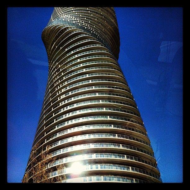 Like a spiraling tornado in building design.