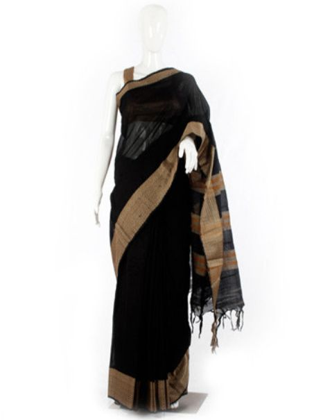 This Black Chettinad Handloom Cotton Saree by desically ethnic is perfect for a any occassion, simple yet classy. Shop for more such trendy saree online @ RedPolka