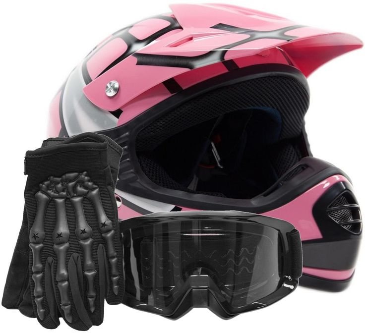 #Youth kids dot helmet goggles gloves #combo offroad dirt bike atv pink #spiderma,  View more on the LINK: http://www.zeppy.io/product/gb/2/271471800956/