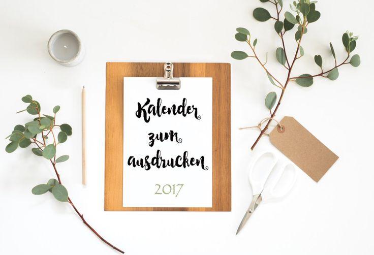 Kalender zum Ausdrucken 2017