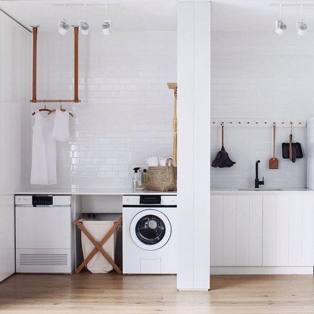 spacious laundry room organization