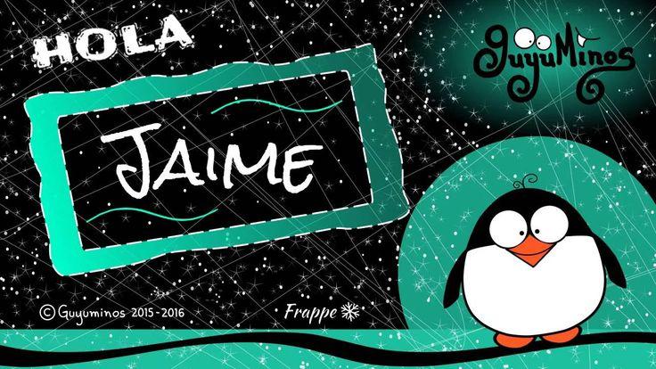 Hola Jaime... Tu Nombre al estilo Guyuminos! Sabías que Jaime es la variante española de James que proviene del Hebreo Ya'aqov =Jacob y significa Sostenido por el talón.   Variantes: Jacobo, Giacomo, Yago,  Diminutivo: Jimmy, Jim :D #jaime #significado #nombres #guyuminos