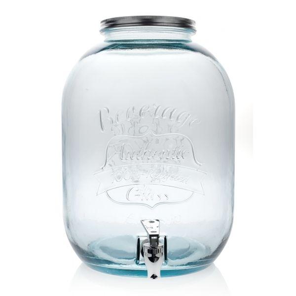Vidrios San Miguel 100%-ig újrahasznosított üvegből készült csapos befőttes üveg. Óriási, 12.5 literes kivitelben limonádék, vagy ágyas pálinka készítéséhez, felszolgálásához is kiváló.