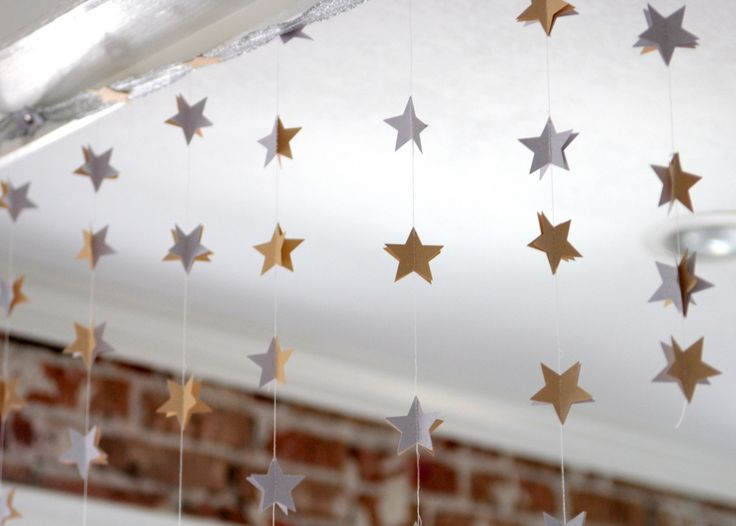 moon and stars baby shower decor twinkle little star baby shower pinterest star garland. Black Bedroom Furniture Sets. Home Design Ideas