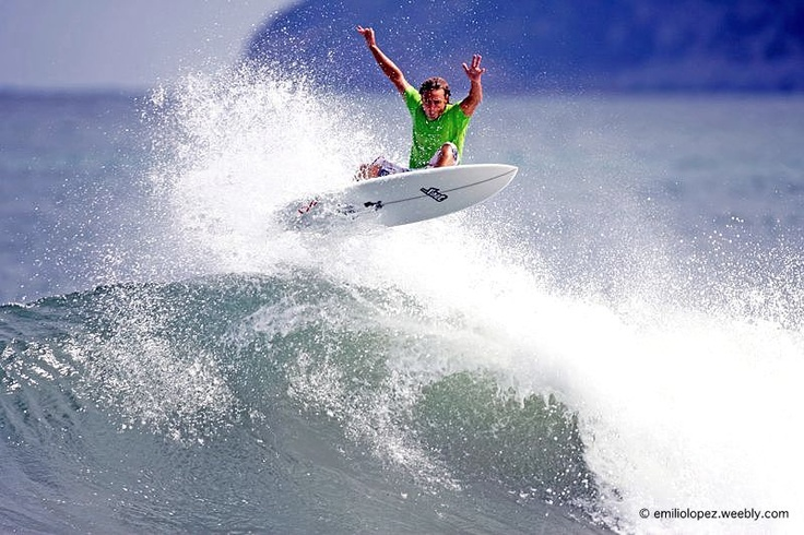 Toni Hita flying at the North Shore of the Balearic Island of Mallorca in Spain... http://fineartamerica.com/featured/surf-air-emilio-lopez.html