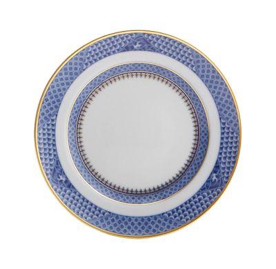 Indigo Wave Dessert Plate by Mottahedeh   Michael C. Fina