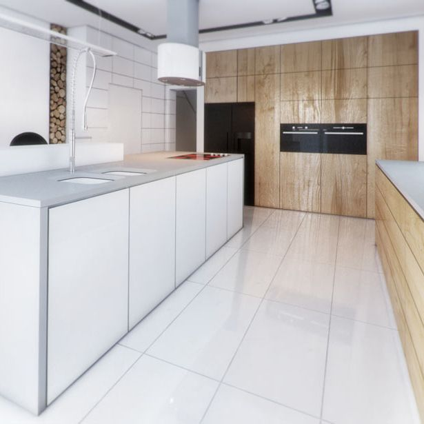 Kitchen design in Bytom, POLAND - archi group.  Kuchnia w domu jednorodzinnym.
