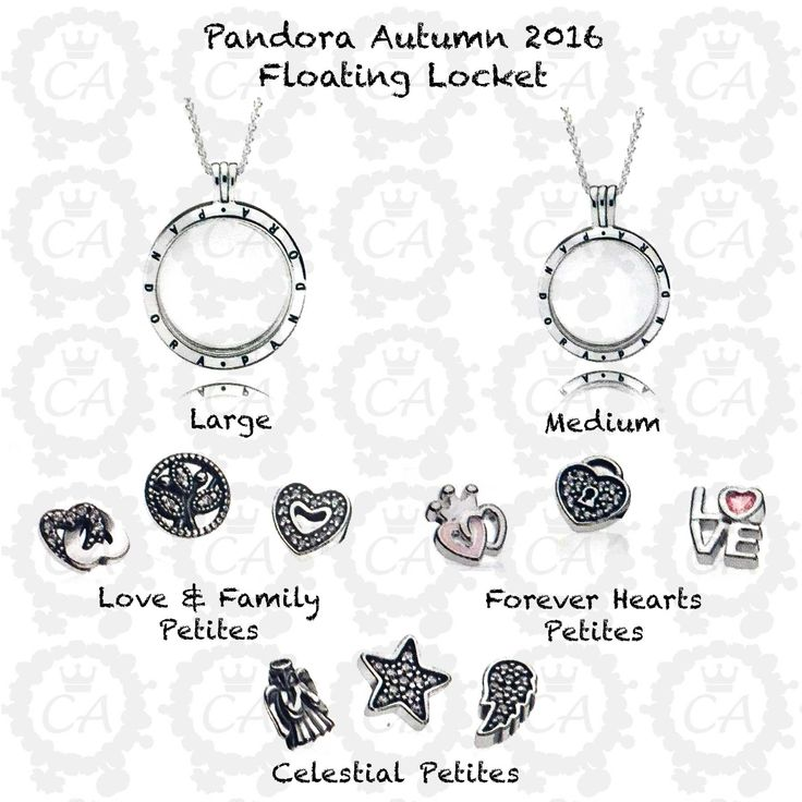 I want the large with love & family petite set - Pandora Autumn 2016 Floating Locket
