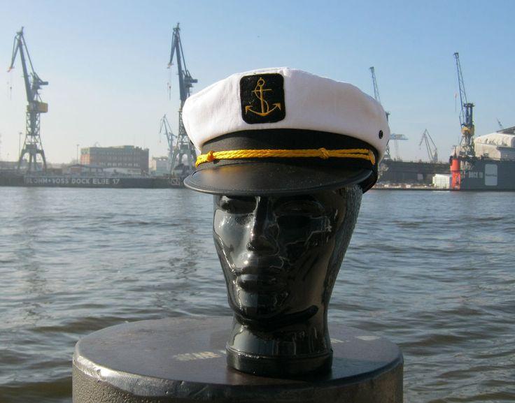 Kapitänsmütze 50-61 Kapitän Seemann Mütze Hut Matrosenmütze Cap Karneval Kostüm
