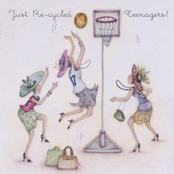 Cards » Just Re-Cycled Teenagers » Just Re-Cycled Teenagers - Berni Parker Designs