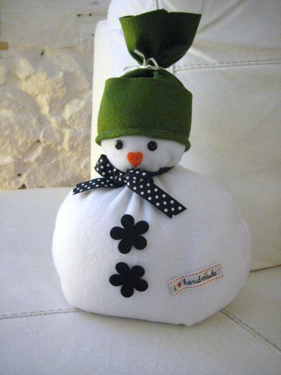 Handmade Cute Fabric Christmas Snowman Doorstop Door - etsy