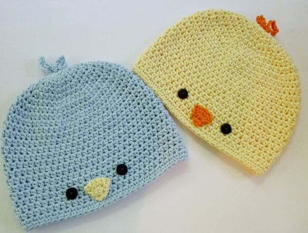 Cute baby chick crochet hat for Easter
