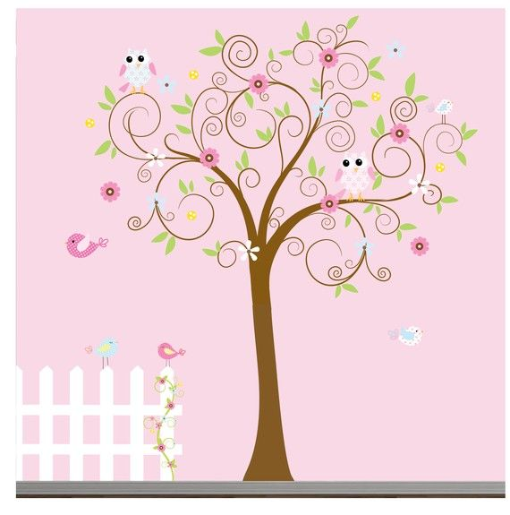 Children's Wall Decals w/ Tree, Owls, flowers, etc...too cute for a little girls nursery!