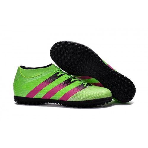 Botas de fútbol de niños Adidas ACE 16.3 Primemesh TF Verde Rosa Negro Hombre
