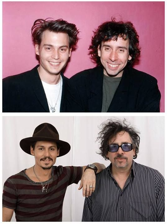 Johnny Depp and Tim Burton :-)