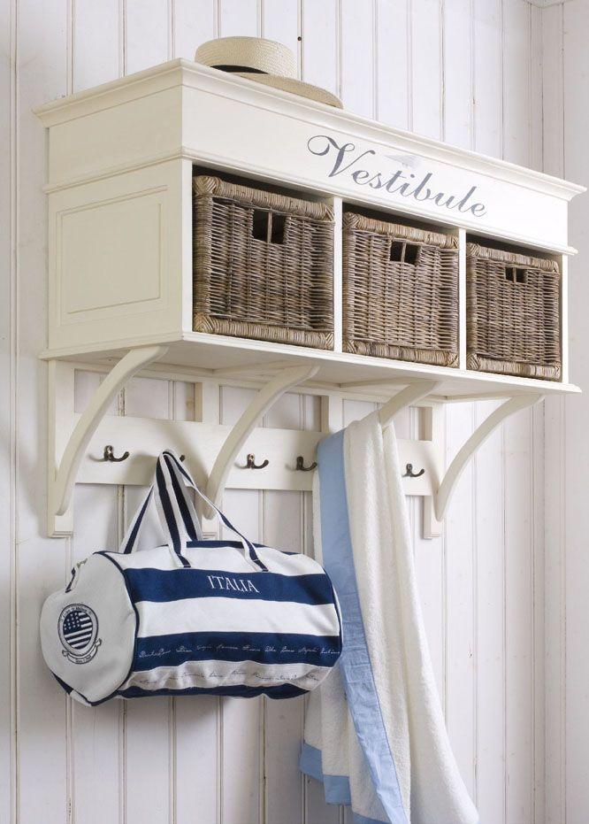 vestibule,home decor,hanger,white,blue,stripes,nautical,organization