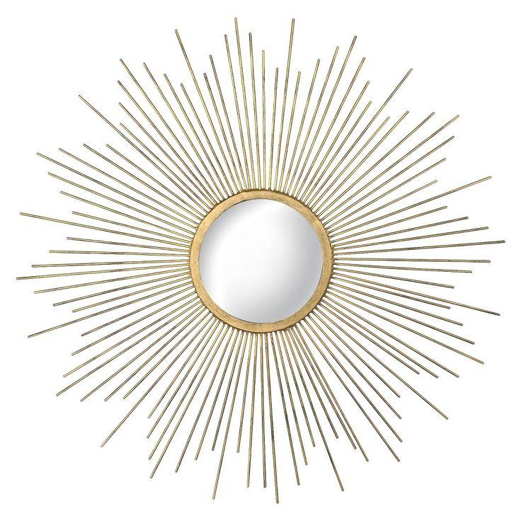 Metal Sunburst Mirror - Aged Gold @ target!