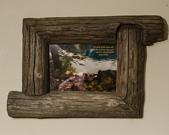 Recycled Canadian Fence Post Wood 5x7 by SaphariRusticFrames #rustic gift #unique gifts #unique handmade gifts