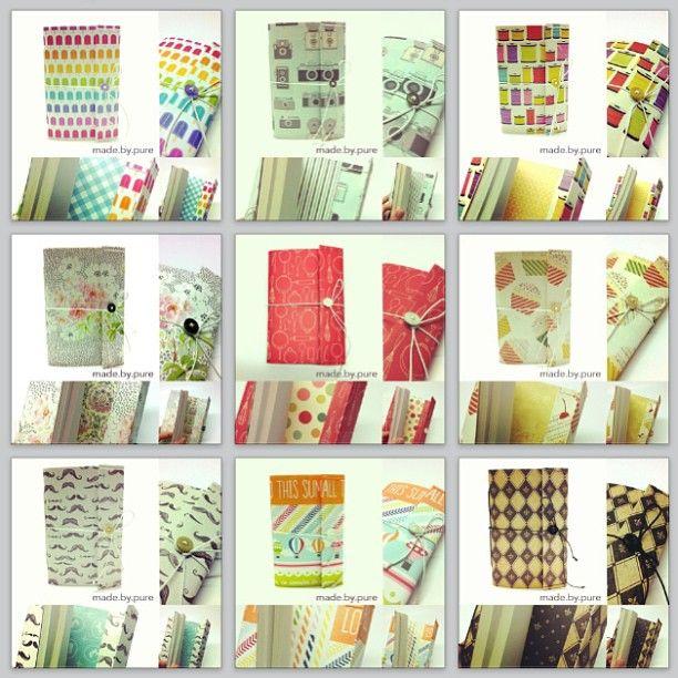 My handmade book collection :3 #handmade #notebook #handmadenotebook