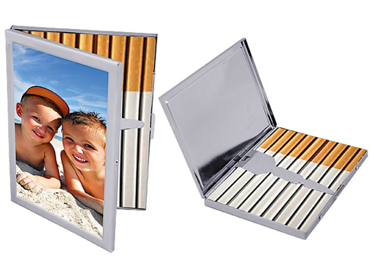 Add any photos as you like to the custom cigarette cases.