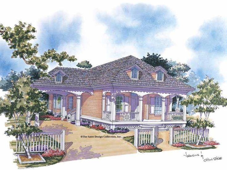 35 best images about houseplans by sater on pinterest for Cottage house plans with porte cochere