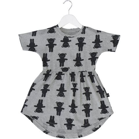 Bear Hug Swirl Dress Grey Marle