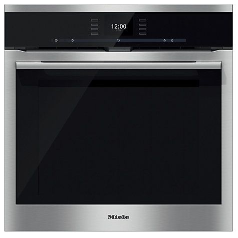 Buy Miele H6560BP ContourLine Single Electric Oven, Clean Steel Online at johnlewis.com