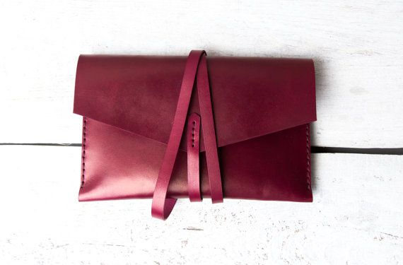 Leather case iPad Mini 3 burgundy leather vegetable by viveo