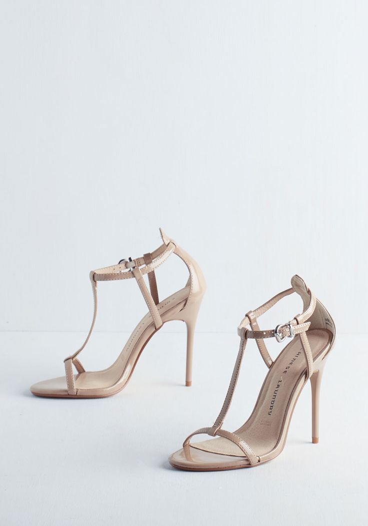 Gala Te Da Heel in Taupe - High, Tan, Solid, Special Occasion, Prom, Wedding, Party, Girls Night Out, Better, T-Strap, Variation