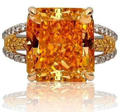 The famous Pumpkin Diamond, this vivid Orange diamond is one of the most famous orange diamonds, with a finished weight of 5.54 carats. Bought and sold by the famous Harry Winston Jewelers  Ladiesfashionsense.com Blog