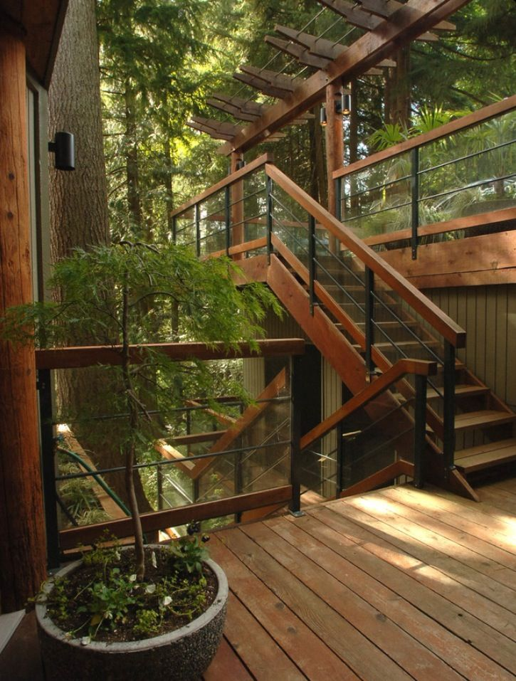 Outdoor stair and patio designs.