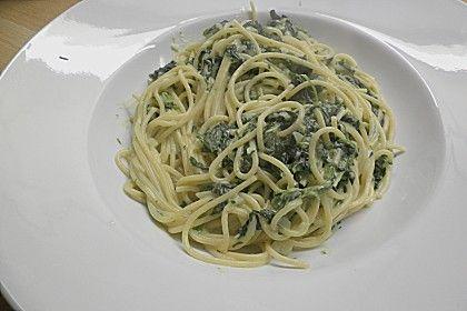 Spaghetti mit Spinatsauce