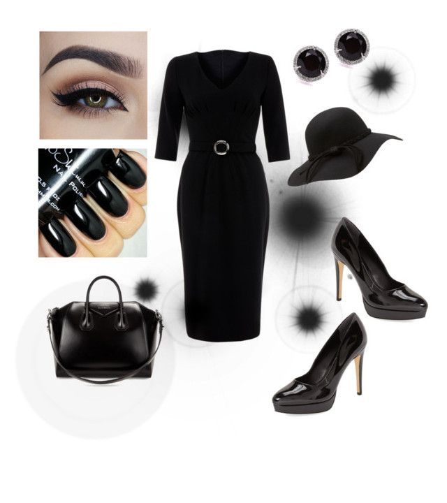 Black Lady by rosehage on Polyvore featuring polyvore, fashion, style, Goat, Charles by Charles David, Givenchy, Kobelli, women's clothing, women's fashion, women, female, woman, misses and juniors