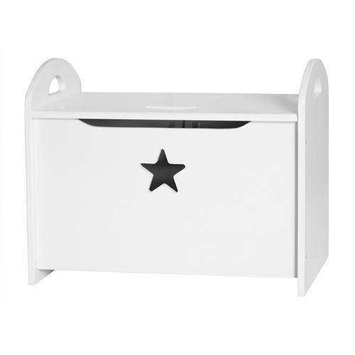 Kiste i træ fra Kids Concept. Praktisk kiste med smart opbevaring til f.eks. legetøj under låget. Højde: 40 cm Længde: 50 cm Dybde: 30 cm