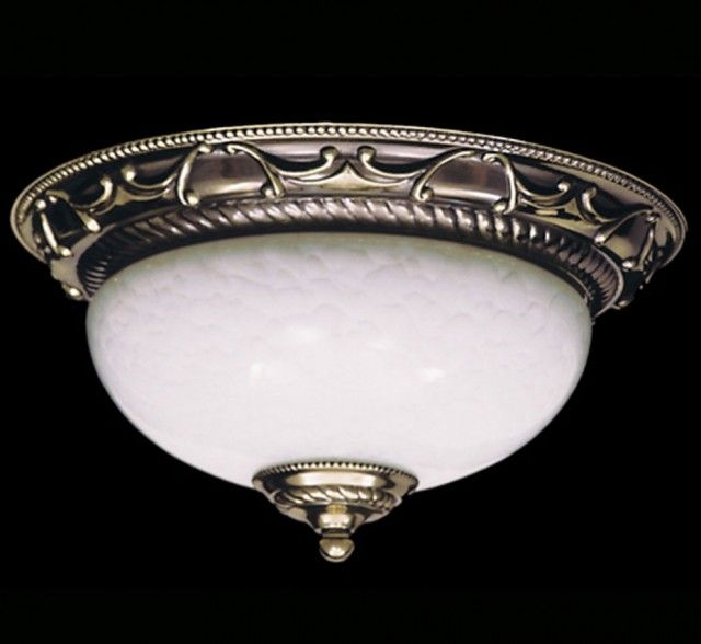 Napoleonic I Collection 12″ Dia Small Traditional Flush Mount Ceiling Light
