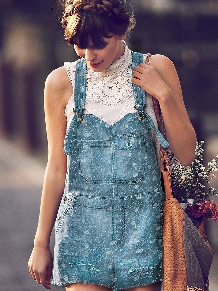 Sneak Peek! - Free People Cross Over Distressed Overall