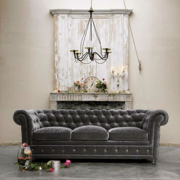 The most divine charcoal velvet sofa!