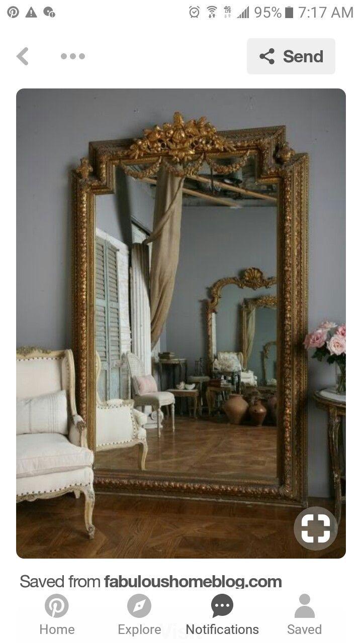 Victorian Parisian Home Decor Vintage Mirror Ideas Pinterest Shabby Chic And