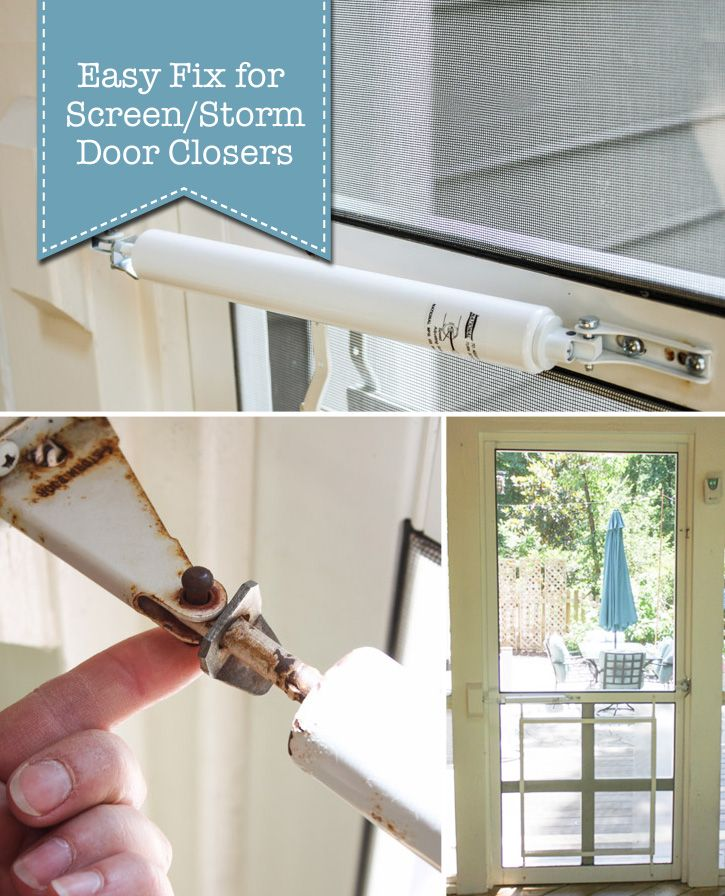 Easy Fix for a Screen Door Hydraulic Closer | Pretty Handy Girl ~ Today I've partnered with National Hardware to show you an Easy Fix for a Screen/Storm Door Closer and save the skin on your heels.