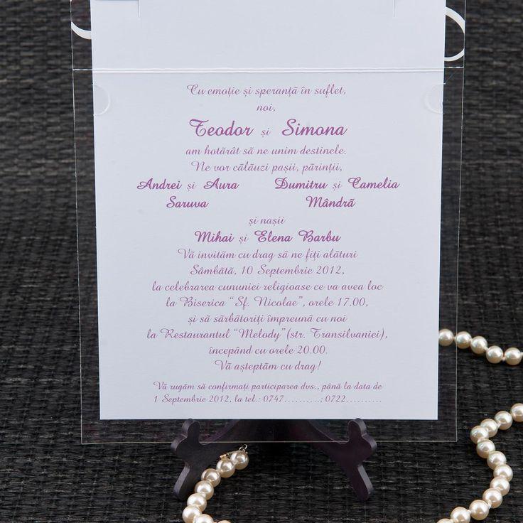 Pentru a va ajuta sa faceti alegerea perfecta pentru primul pas al organizarii evenimentului dumneavoastra, nunta botez va prezentam o gama variata de invitatii pentru nunta si botez, modele elegante, romantice, haioase la preturile cele mai bune.