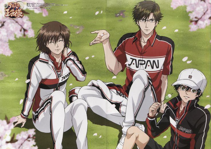Ryoma Echizen, Shuusuke Fuji and Kunimitsu Tezuka, New Prince of Tennis