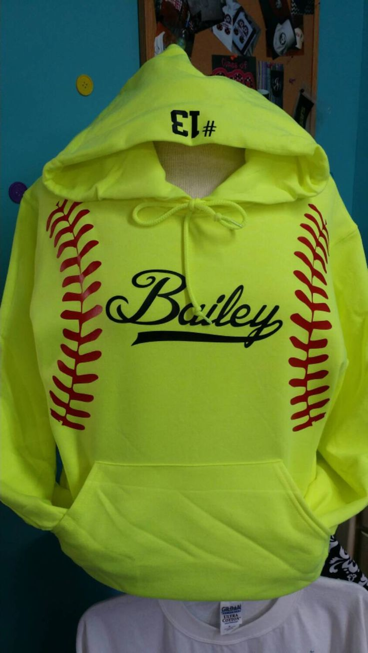 ADULT Softball HOODIE with Laces, and Monogram or Name. Glitter or Regular vinyl. by AndMore2004 on Etsy https://www.etsy.com/listing/185387226/adult-softball-hoodie-with-laces-and