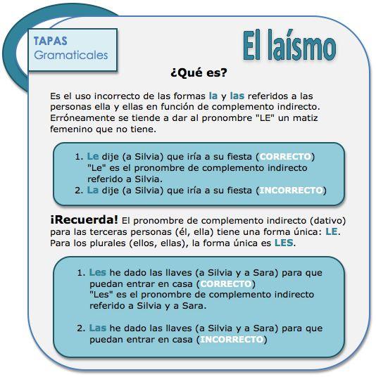 ♥♥♥ El laísmo